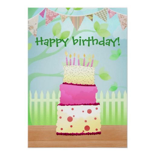 It's your birthday poster print
