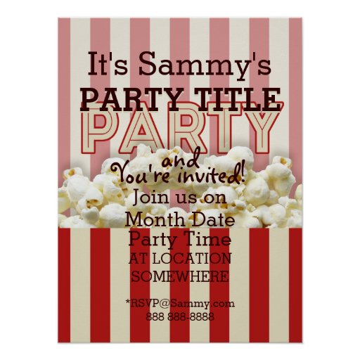 It's Your Party Invitation Poster Personalize it!