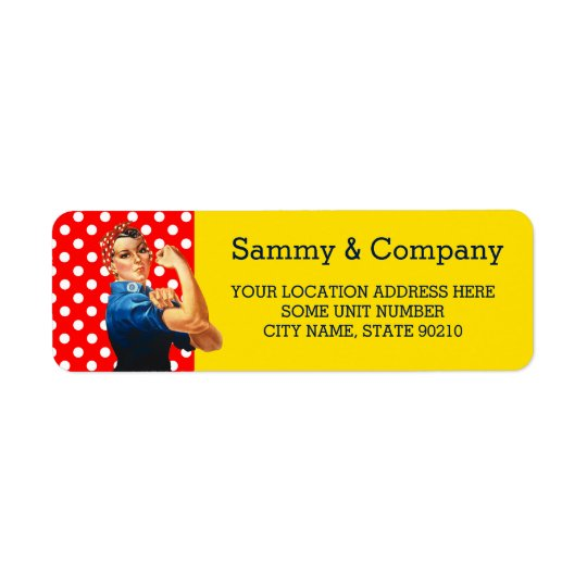 It's Your Party Personalised Rosie Style Return Address Label