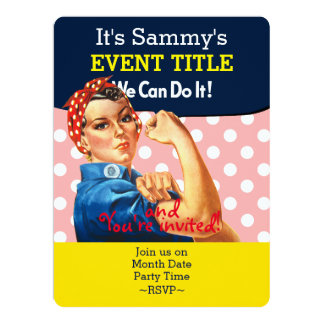 It's Your Personalized Rosie Party Supply 17 Cm X 22 Cm Invitation Card