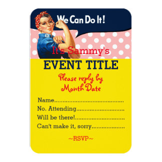 It's Your Personalized Rosie Party Supply 9 Cm X 13 Cm Invitation Card