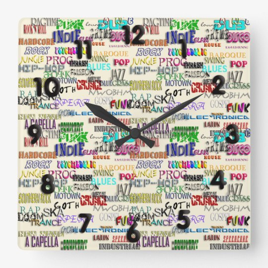 It's Your Thing Square Wall Clock