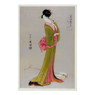 Itsutomi (1793) by Eishi Hosoda 1756-1829 Poster