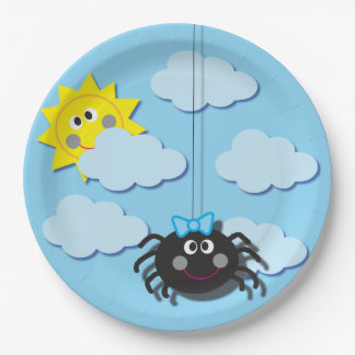 Itsy Bitsy Spider Party Plate 9 Inch Paper Plate
