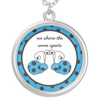 Itty Bitty Blue Ladybug Best Friends Necklace