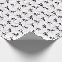 Itty Bitty Boston Terrier Dogs Wrapping Paper