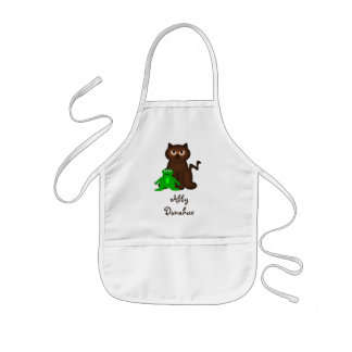 Itty Bitty Kitty and Little Green Buddy Apron