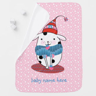 Itty Bitty Knitting Doggie Baby Blanket