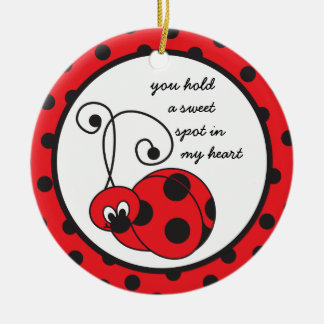 Itty Bitty Ladybug Love Ornament