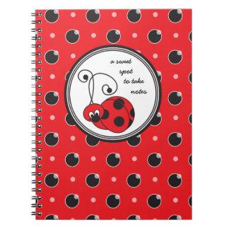 Itty Bitty Ladybug Notebook - Red
