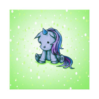 itty bitty unicorn canvas print