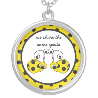 Itty Bitty Yellow Ladybug Best Friends Necklace