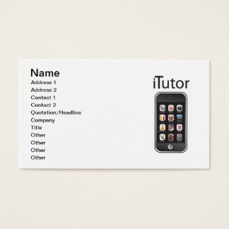 itutor Business Card