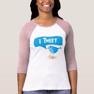 iTweet Twitter Bird Ladies 3/4 Sleeve Raglan Top