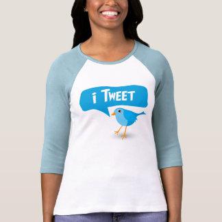 iTweet Twitter Bird Ladies 3/4 Sleeve Raglan Top Tshirts