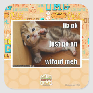 Itz ok, just go on wifout meh square sticker