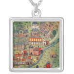 IUK T.5964 View of Eskisehir Silver Plated Necklace