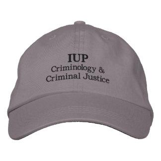 IUP Criminology & Criminal Justice Adjustable Hat Embroidered Baseball Cap