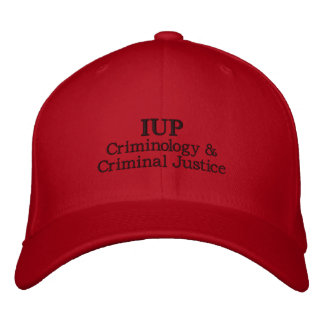 IUP Criminology & Criminal Justice Fitted Hat Embroidered Baseball Caps