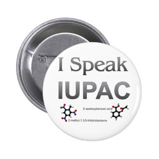 IUPAC International Union Pure & Applied Chemistry 6 Cm Round Badge