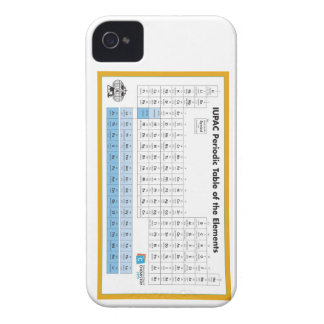 IUPAC Periodic Table of the Elements Blackberry iPhone 4 Case-Mate Case