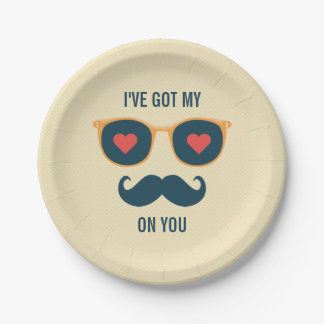 I'v got eyes on you Funny Valentines day greeting 7 Inch Paper Plate