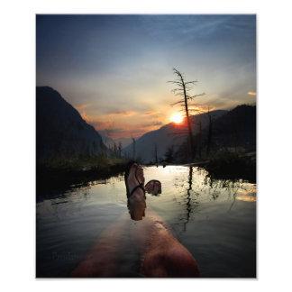Iva Bell Hot Springs Sunset Ansel Adams Wilderness Photo Print