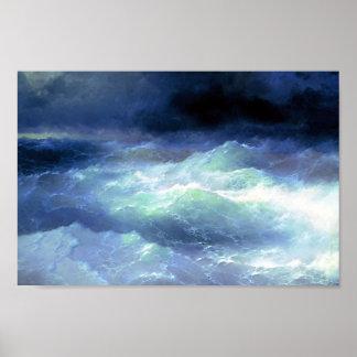 Ivan Aivazovsky- Between the waves Poster