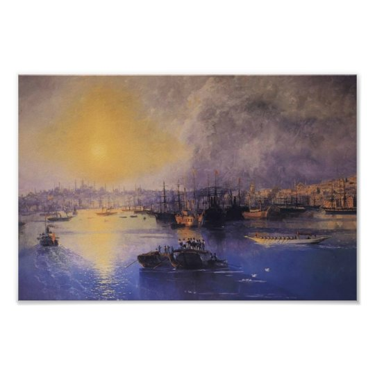 Ivan Aivazovsky- Constantinople Sunset Poster
