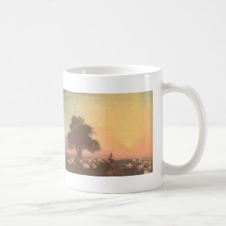 Ivan Aivazovsky-Flock of sheep with herdsmen unset Basic White Mug