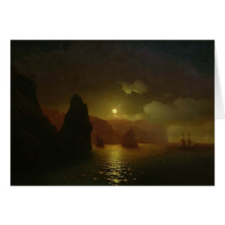 Ivan Aivazovsky- Monastery of George. Cape Fiolent Card