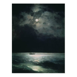 Ivan Aivazovsky- The Black Sea at night Postcard