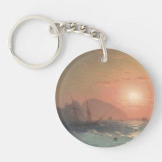 Ivan Aivazovsky- View Of The Ayu Dag, Crimea Acrylic Key Chains