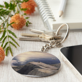 Ivan Aivazovsky vintage water boat painting old Basic Round Button Key Ring