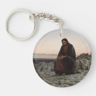 Ivan Kramskoy- Christ in the Wilderness Key Chain