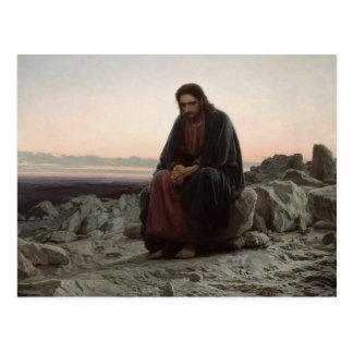 Ivan Kramskoy- Christ in the Wilderness Postcard