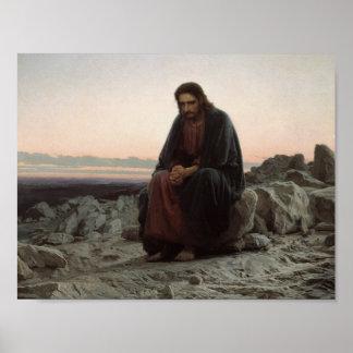 Ivan Kramskoy- Christ in the Wilderness Posters