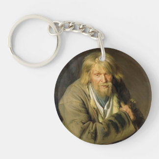 Ivan Kramskoy- Old Man with a Crutch Keychain