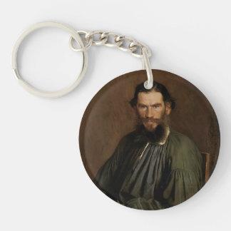 Ivan Kramskoy- Portrait of Leo Tolstoy Key Chain