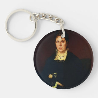 Ivan Kramskoy-Portrait of Sofia Kramskoy Acrylic Keychain
