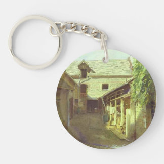 Ivan Kramskoy- Village-Yard-in-France Acrylic Keychains