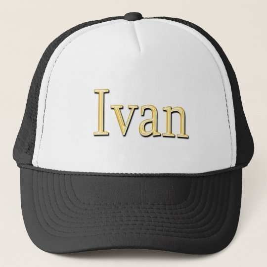 IVAN Name-Branded Personalised Fashion Cap