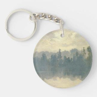 Ivan Shishkin - Krestovsky Island Shrouded in Mist Acrylic Keychain