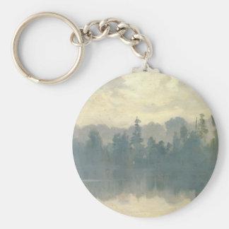 Ivan Shishkin - Krestovsky Island Shrouded in Mist Key Chain