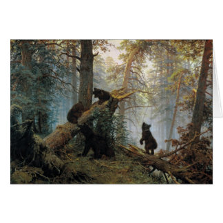 Ivan Shishkin Morning In A Pine Forest Greeting Card