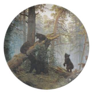 Ivan Shishkin Morning In A Pine Forest Party Plate
