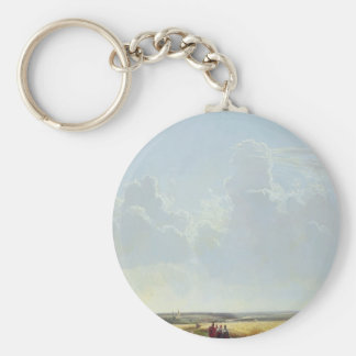 Ivan Shishkin- Noon in the Neighbourhood of Moscow Basic Round Button Key Ring