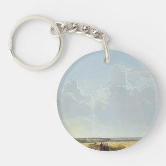 Ivan Shishkin- Noon in the Neighbourhood of Moscow Single-Sided Round Acrylic Key Ring