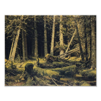 Ivan Shishkin- Wind Fallen Trees Poster