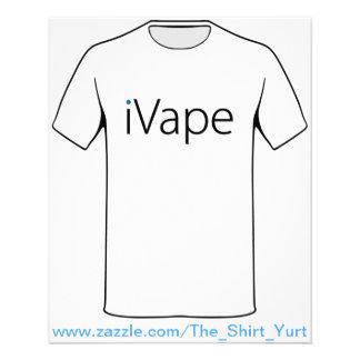 iVape Vaping Electronic Cigarette Fan 11.5 Cm X 14 Cm Flyer